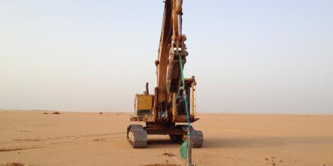 Estudio Rammming/ Pull Test para una planta solar fotovoltaica en Benban, Markaz Deraw, Asuán, Egipto.